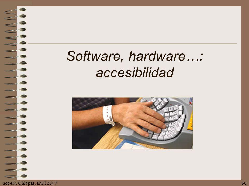 Software, hardware…: accesibilidad