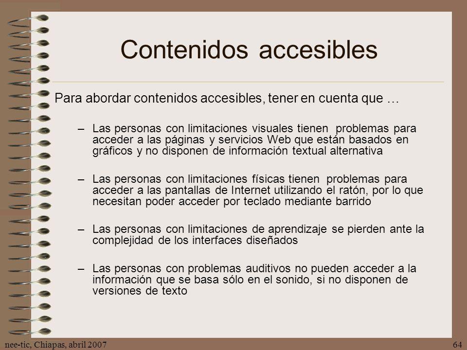 Contenidos accesibles
