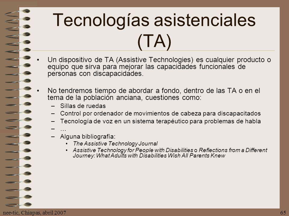 Tecnologías asistenciales (TA)