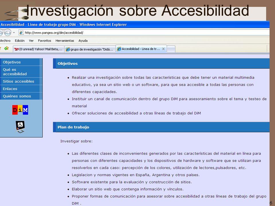 Investigación sobre Accesibilidad
