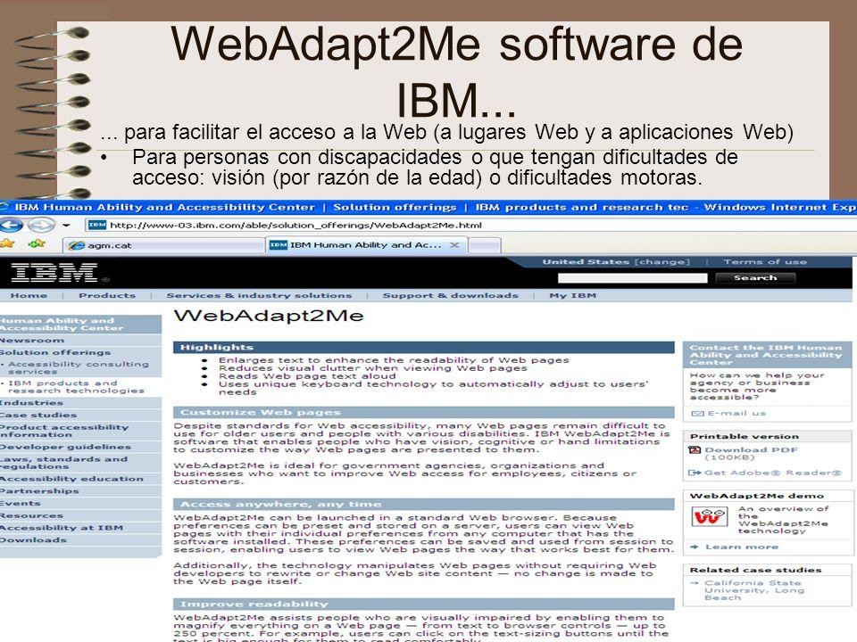 WebAdapt2Me software de IBM...