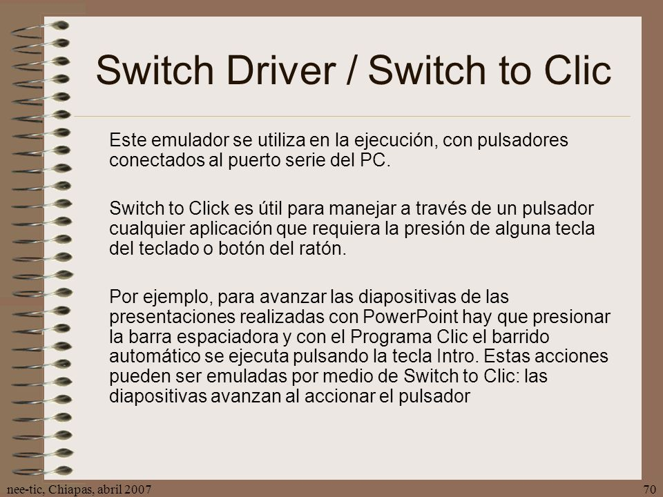 Switch Driver / Switch to Clic