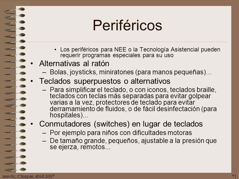 Periféricos Alternativas al ratón Teclados superpuestos o alternativos