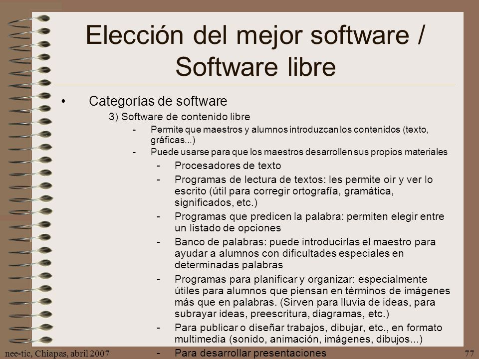 Elección del mejor software / Software libre