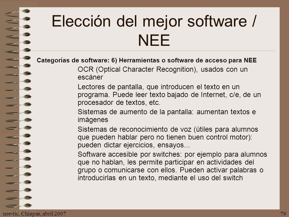 Elección del mejor software / NEE