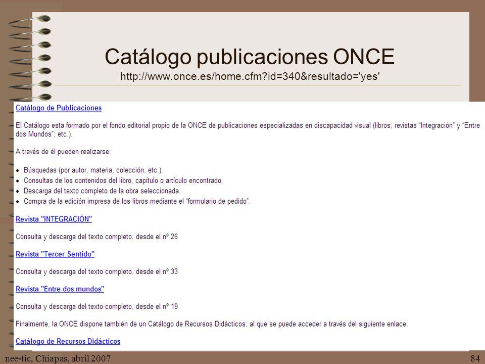 Catálogo publicaciones ONCE http://www. once. es/home. cfm