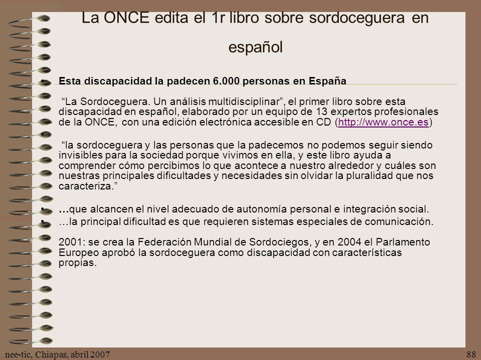 La ONCE edita el 1r libro sobre sordoceguera en español