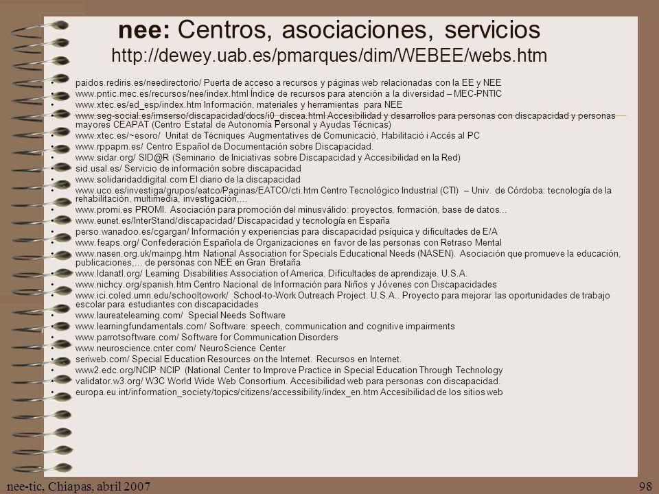 nee: Centros, asociaciones, servicios http://dewey. uab