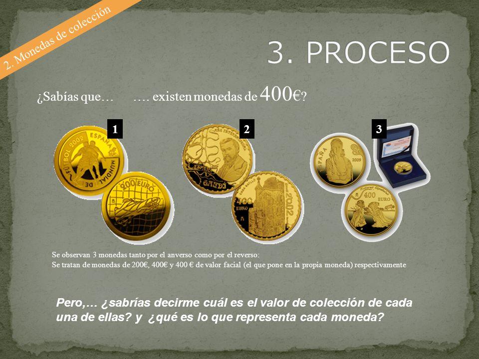 3. PROCESO ¿Sabías que… …. existen monedas de 400€