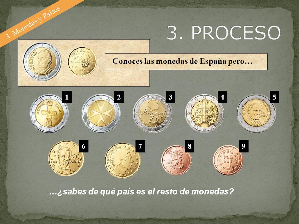 3. PROCESO Conoces las monedas de España pero…