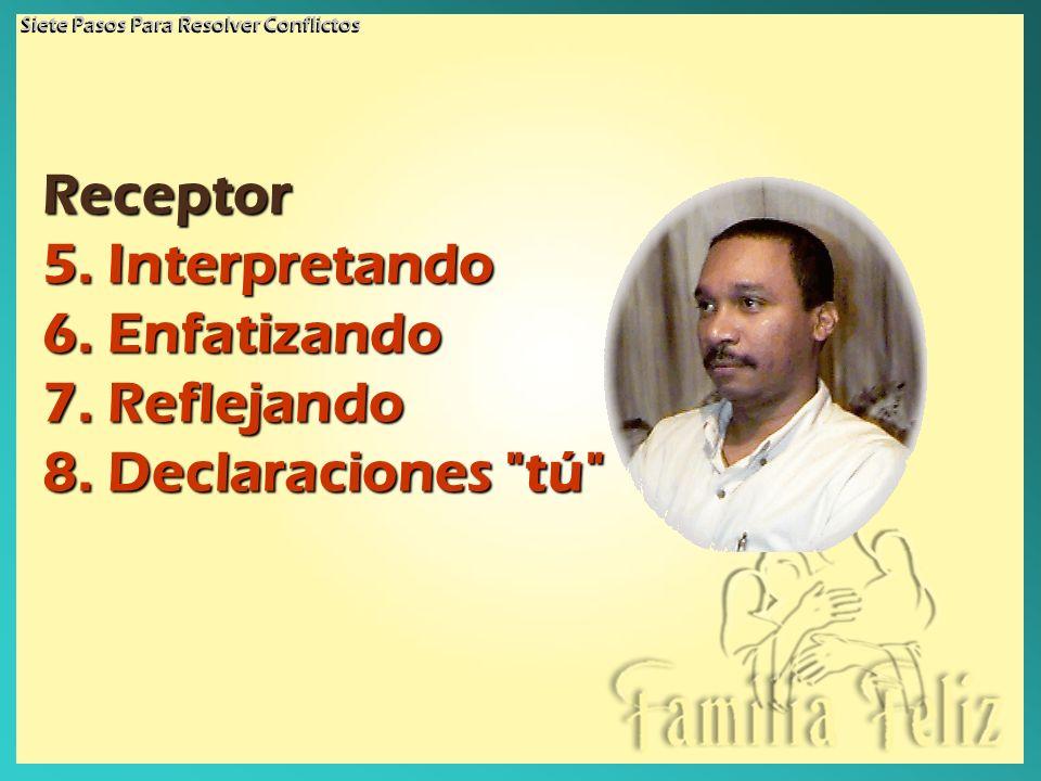 Receptor 5. Interpretando 6. Enfatizando 7. Reflejando