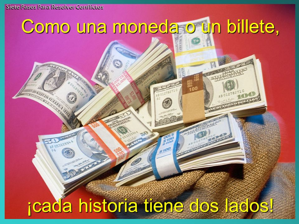 Como una moneda o un billete,