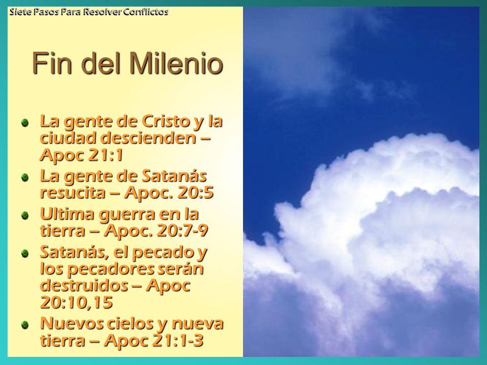 Fin del Milenio La gente de Cristo y la ciudad descienden – Apoc 21:1