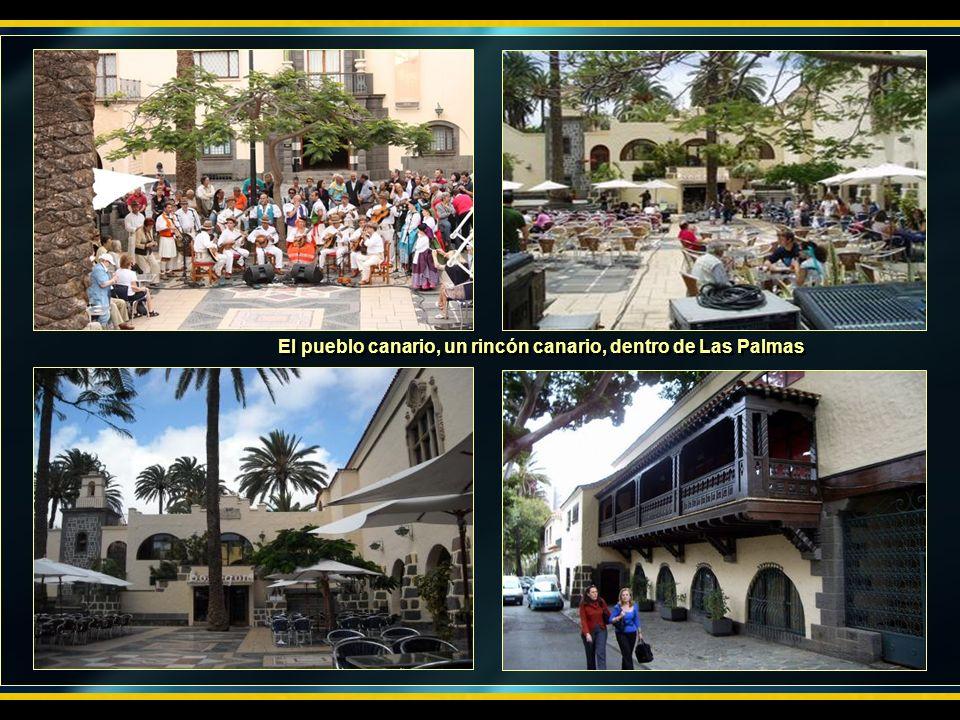 El pueblo canario, un rincón canario, dentro de Las Palmas