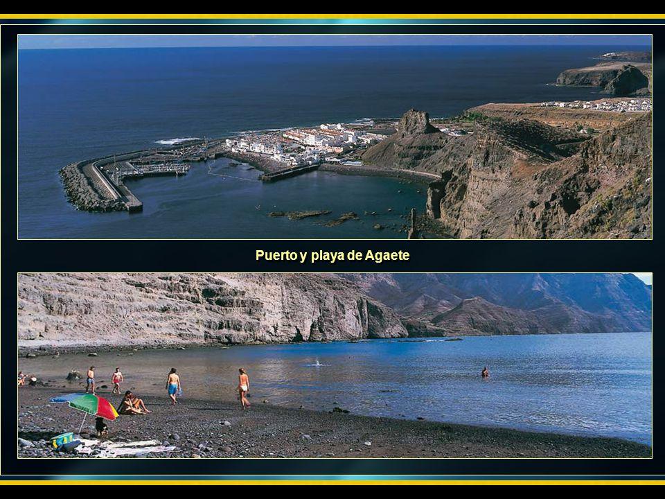 Puerto y playa de Agaete