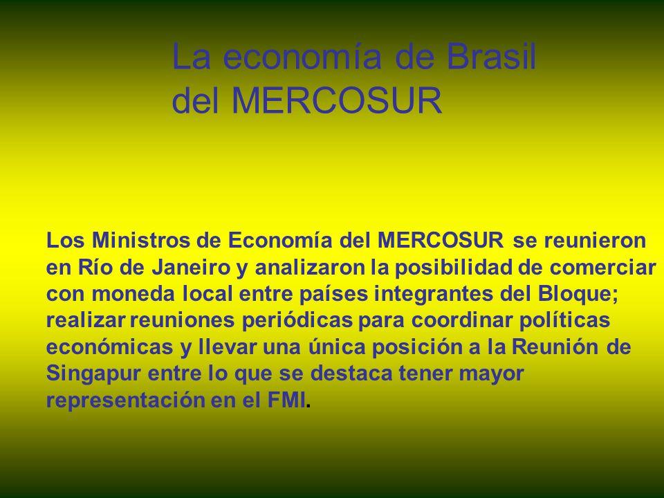 La economía de Brasil del MERCOSUR