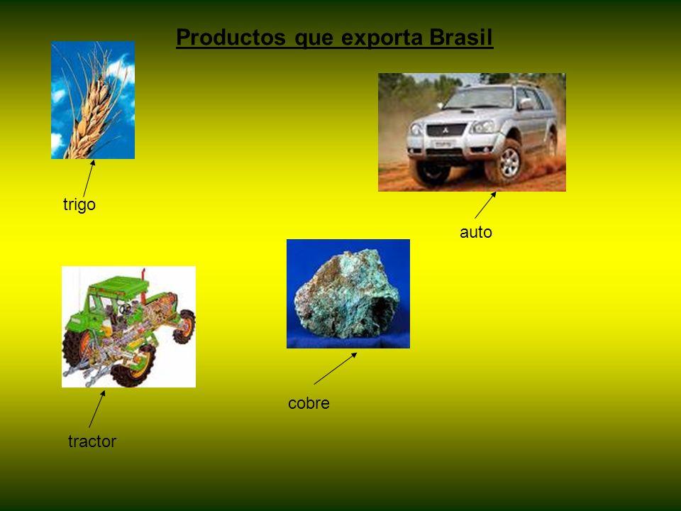 Productos que exporta Brasil