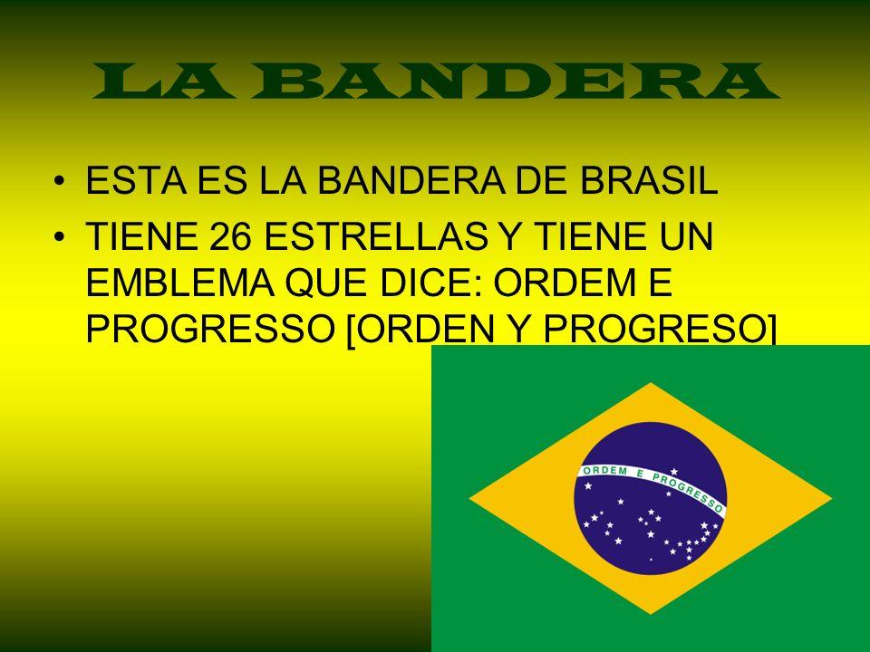 LA BANDERA ESTA ES LA BANDERA DE BRASIL