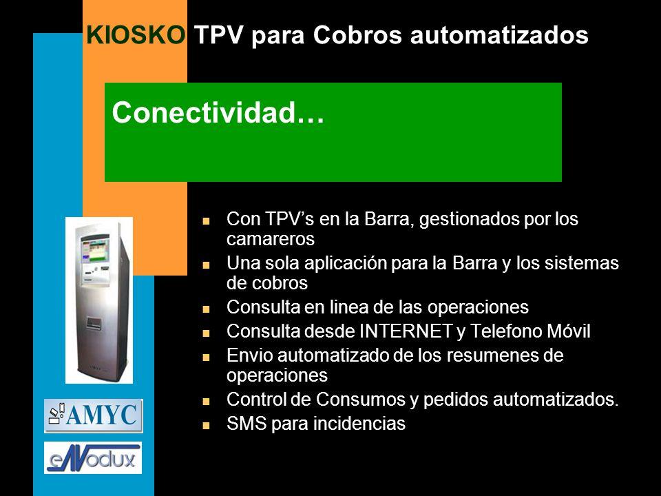 Conectividad… Con TPV's en la Barra, gestionados por los camareros