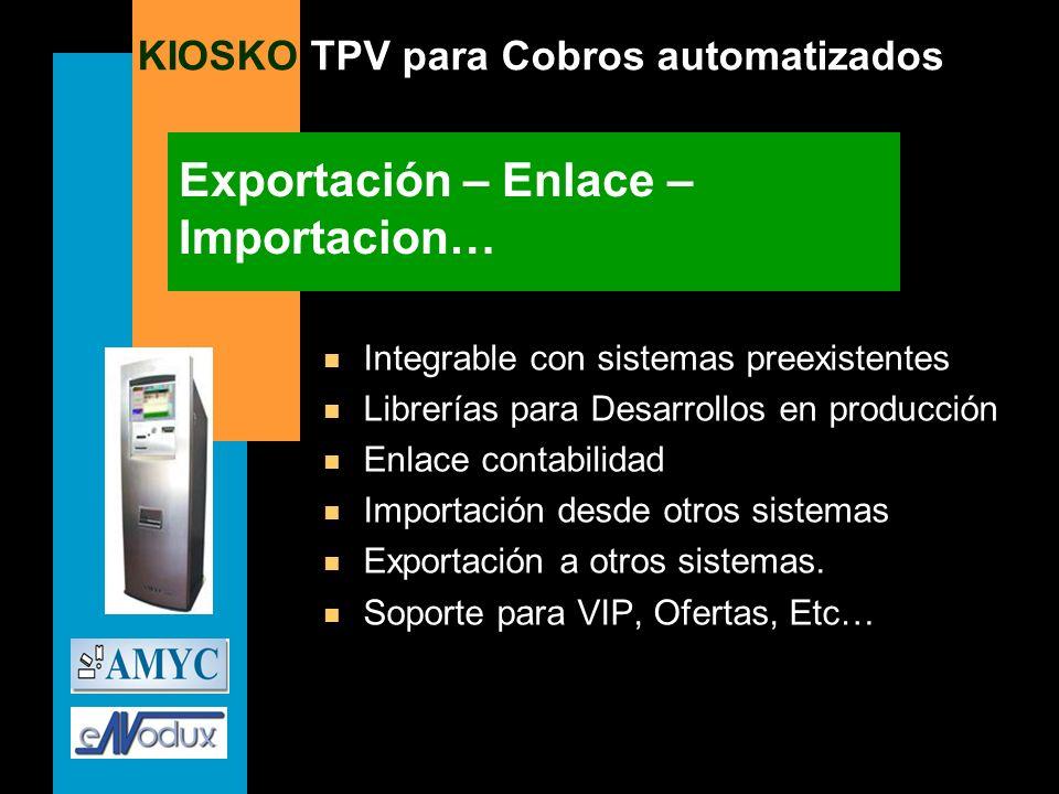 Exportación – Enlace – Importacion…