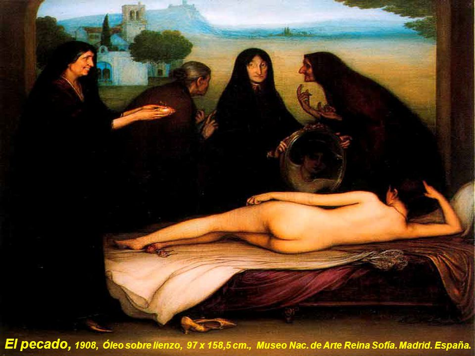 El pecado, 1908, Óleo sobre lienzo, 97 x 158,5 cm. , Museo Nac