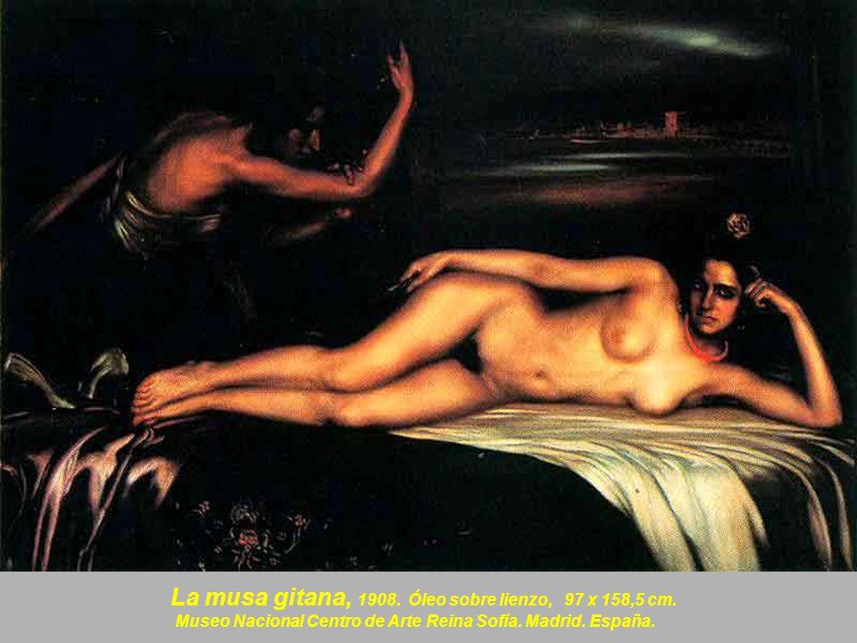 La musa gitana, 1908. Óleo sobre lienzo, 97 x 158,5 cm.