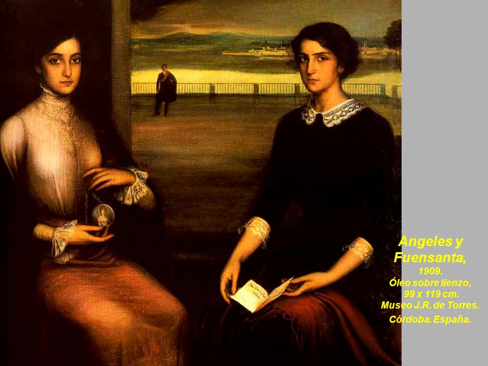 Angeles y Fuensanta, 1909. Óleo sobre lienzo, 99 x 119 cm.