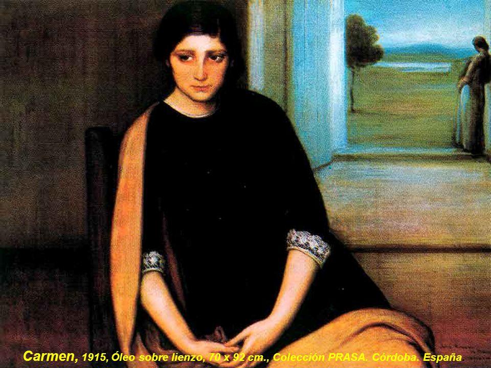 Carmen, 1915, Óleo sobre lienzo, 70 x 92 cm., Colección PRASA. Córdoba. España.