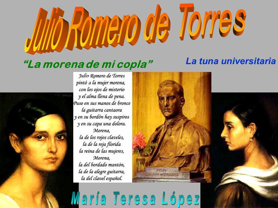 Julio Romero de Torres María Teresa López La morena de mi copla