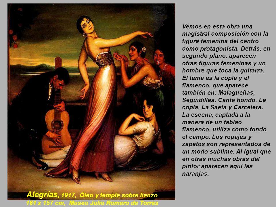 Alegrías, 1917, Óleo y temple sobre lienzo