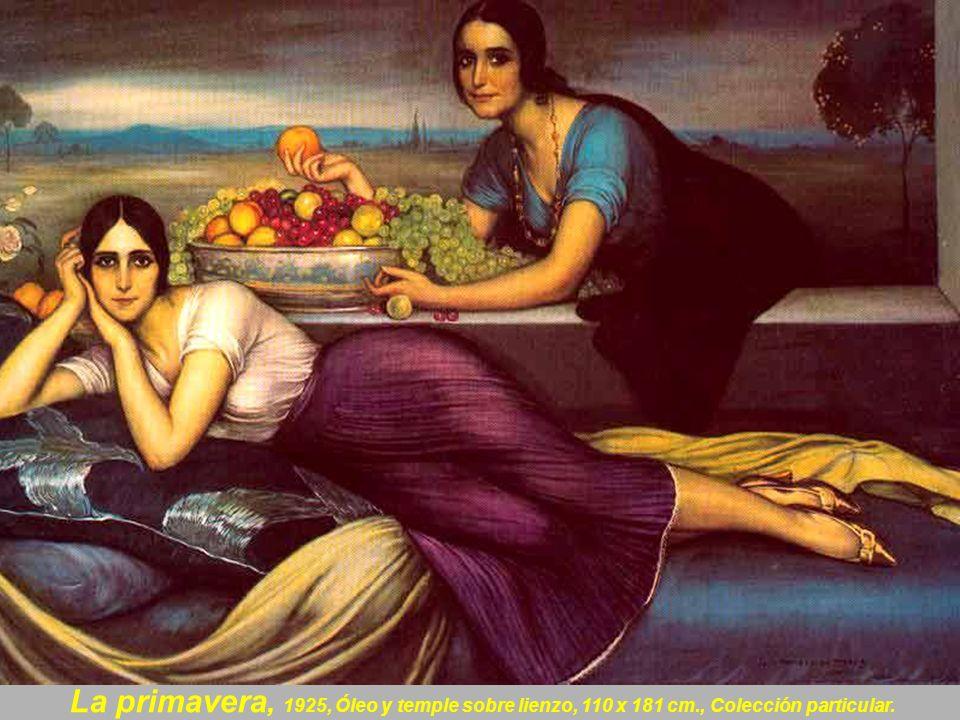La primavera, 1925, Óleo y temple sobre lienzo, 110 x 181 cm