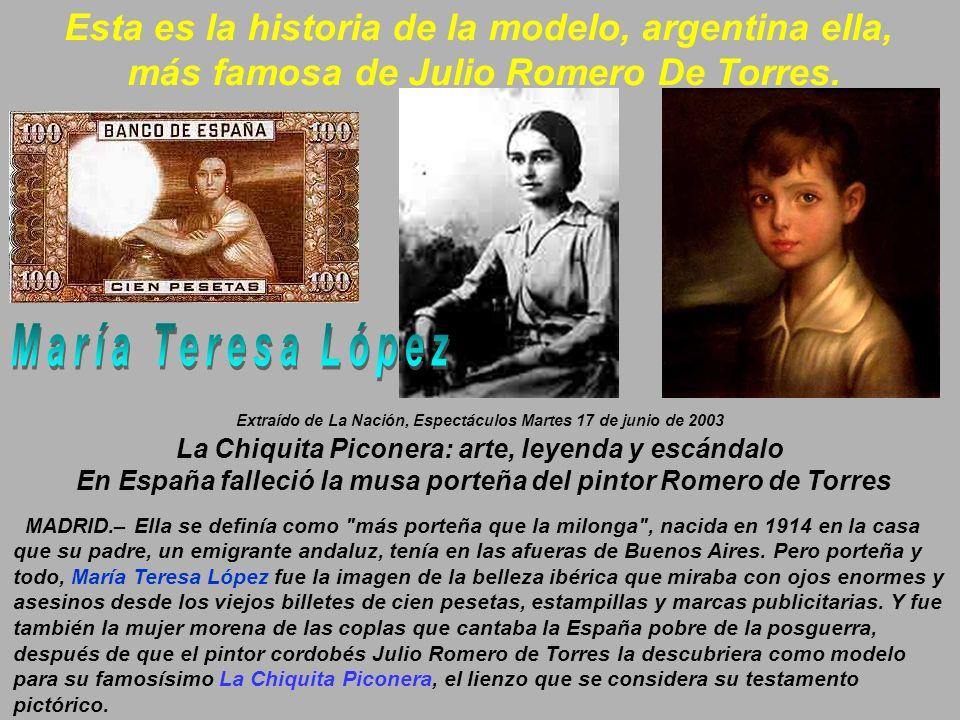 María Teresa López Esta es la historia de la modelo, argentina ella,