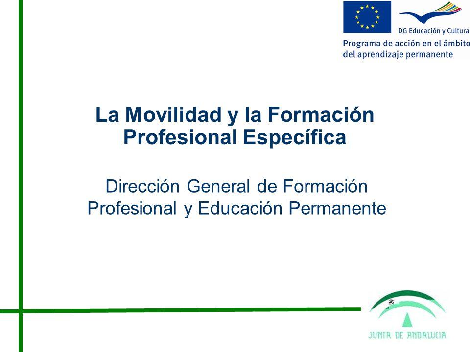 La Movilidad y la Formación Profesional Específica