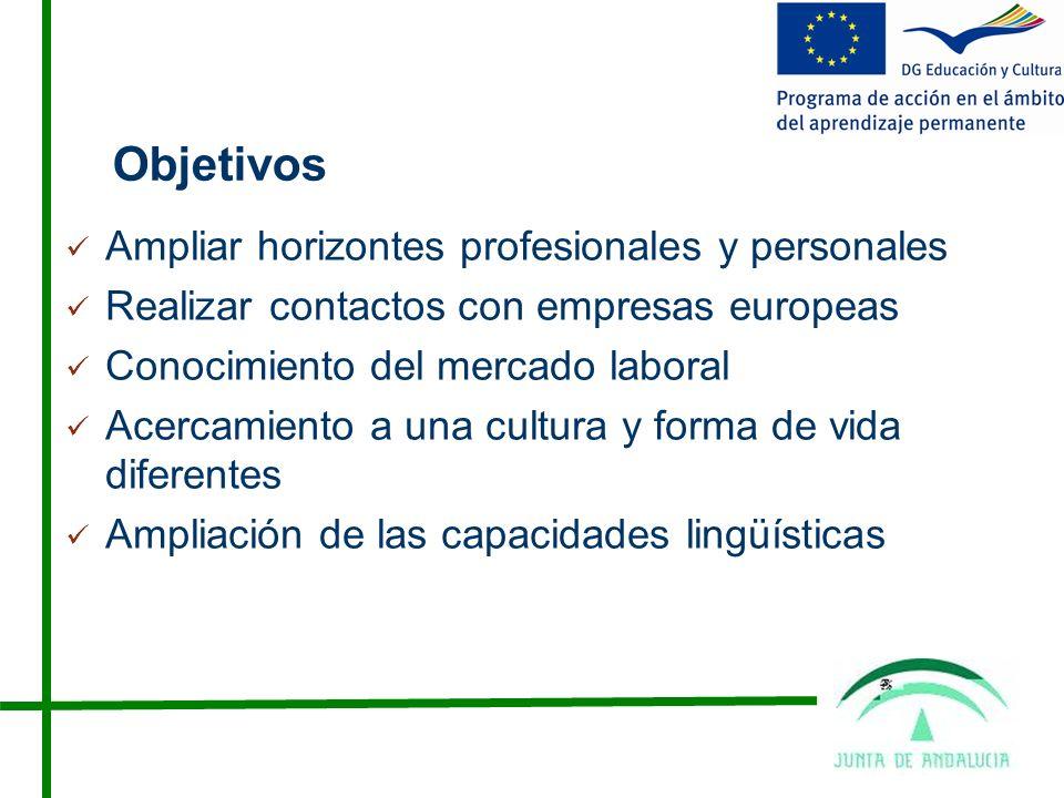 Objetivos Ampliar horizontes profesionales y personales