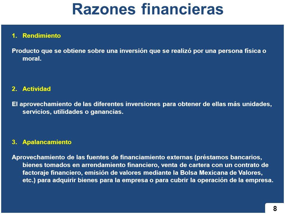 Razones financieras 8 Rendimiento