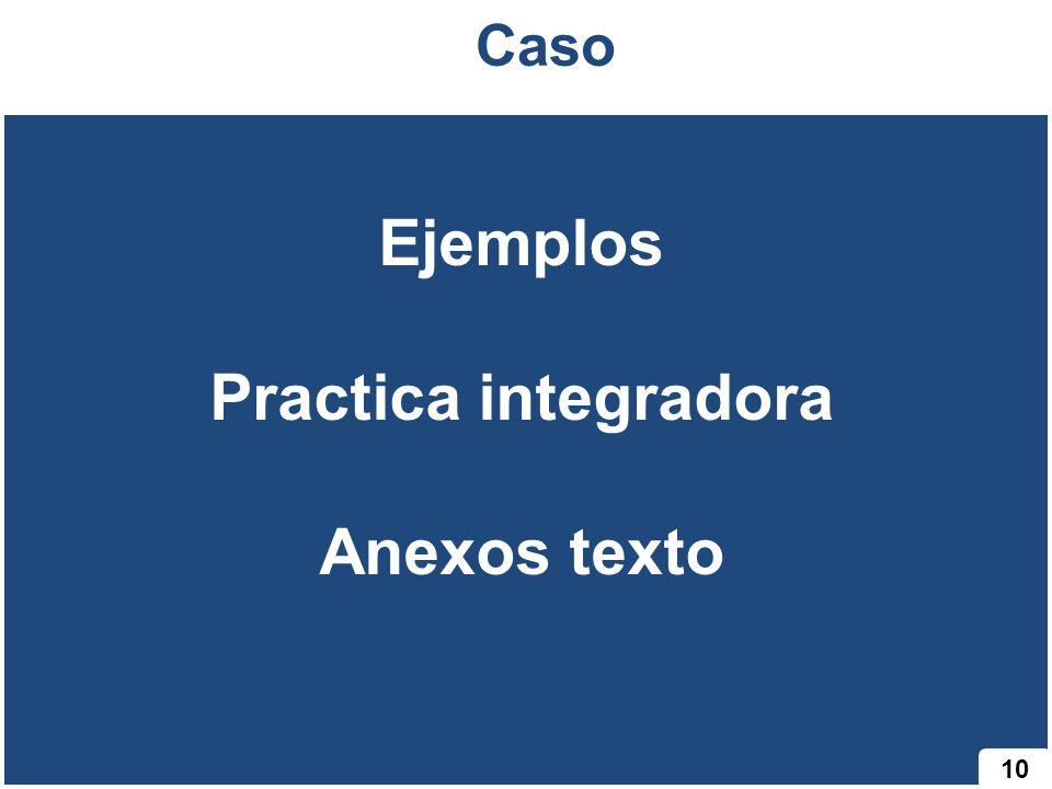 Ejemplos Practica integradora Anexos texto