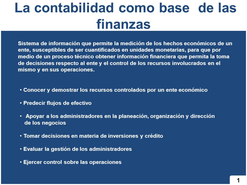 La contabilidad como base de las finanzas