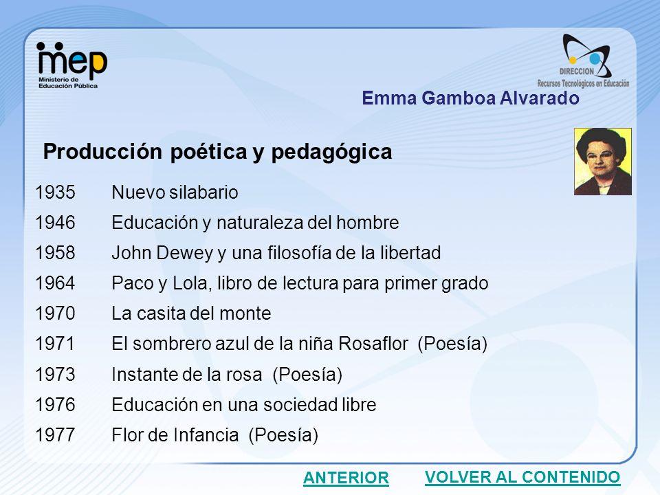 Producción poética y pedagógica