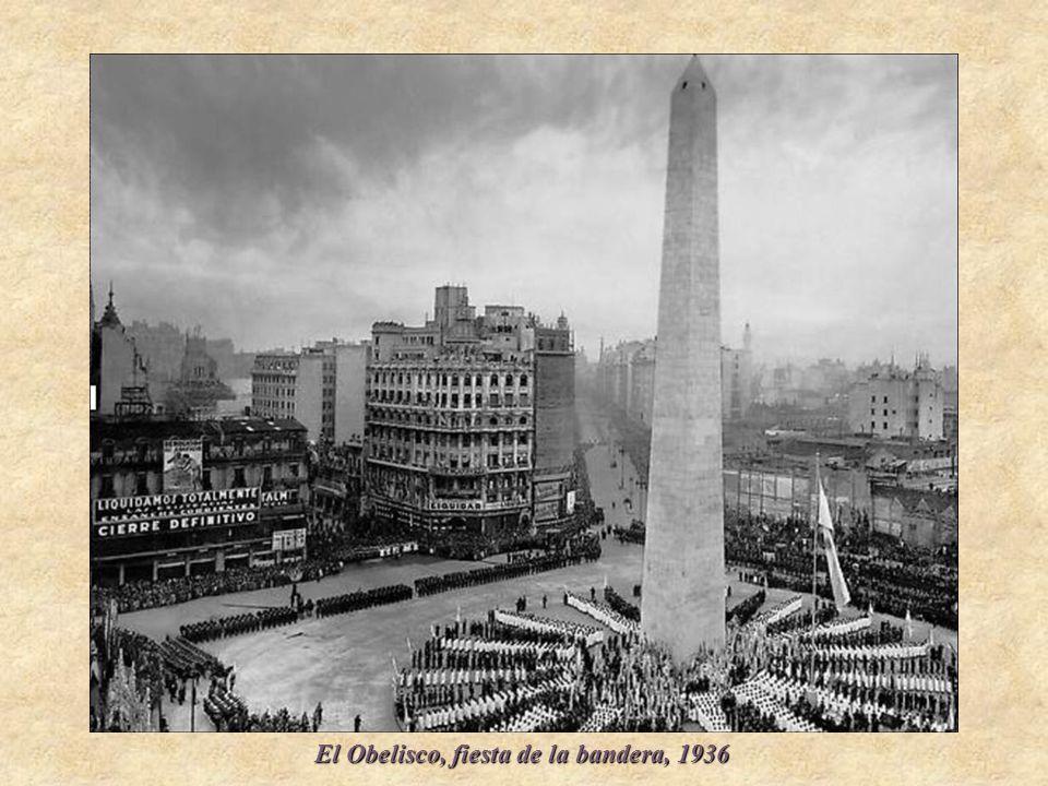 El Obelisco, fiesta de la bandera, 1936