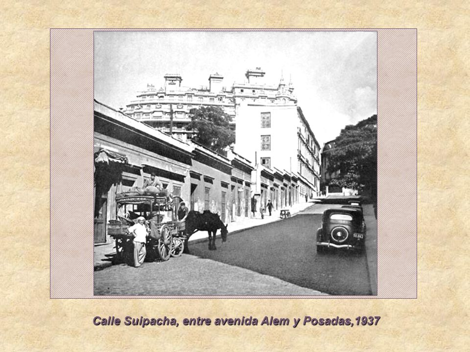 Calle Suipacha, entre avenida Alem y Posadas,1937