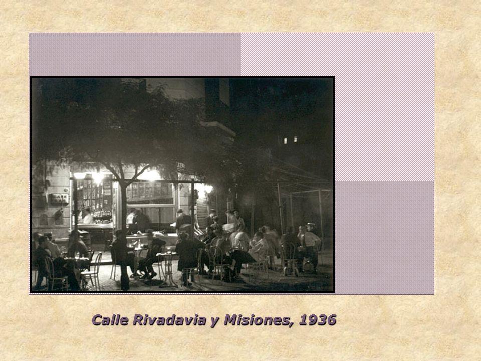 Calle Rivadavia y Misiones, 1936