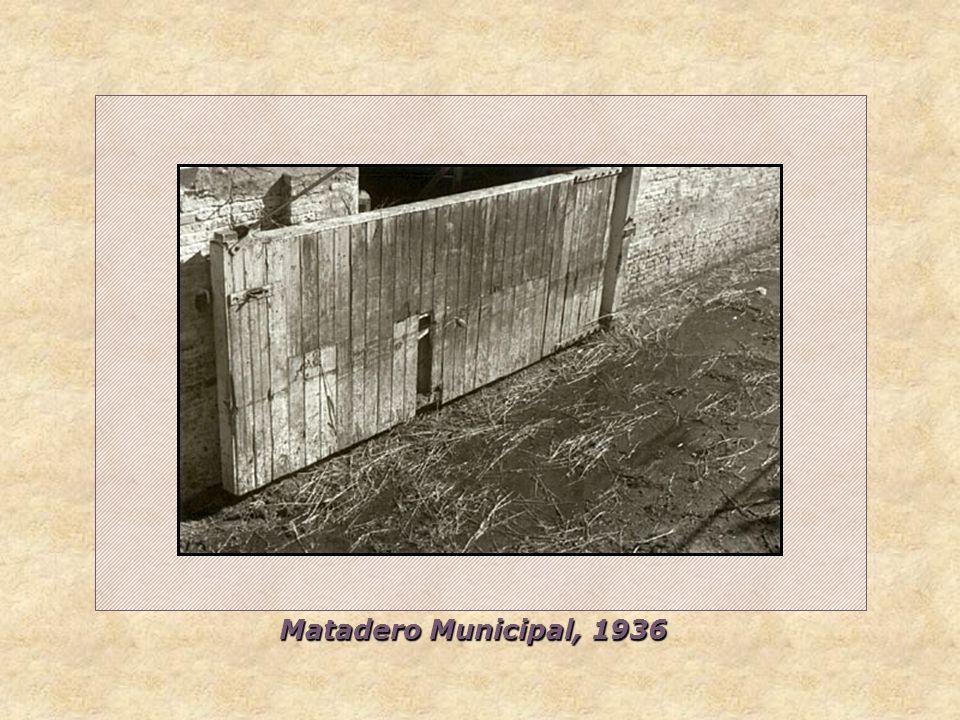 Matadero Municipal, 1936