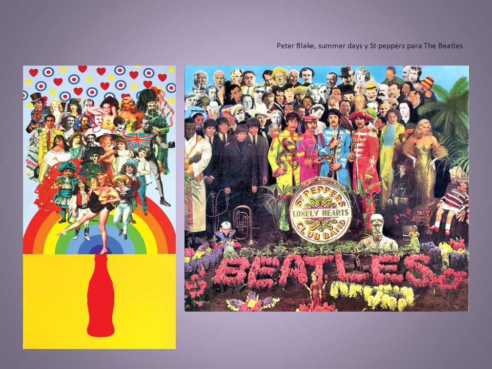 Peter Blake, summer days y St peppers para The Beatles