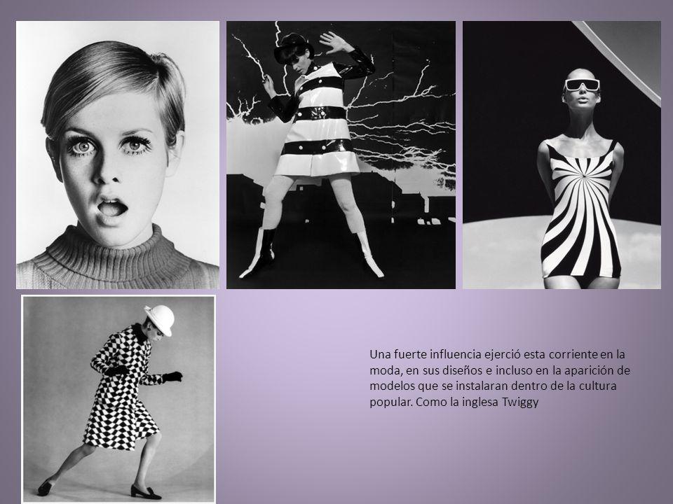 Una fuerte influencia ejerció esta corriente en la moda, en sus diseños e incluso en la aparición de modelos que se instalaran dentro de la cultura popular.