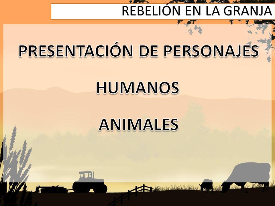 PRESENTACIÓN DE PERSONAJES