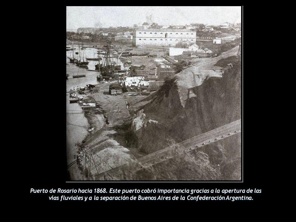 Puerto de Rosario hacia 1868