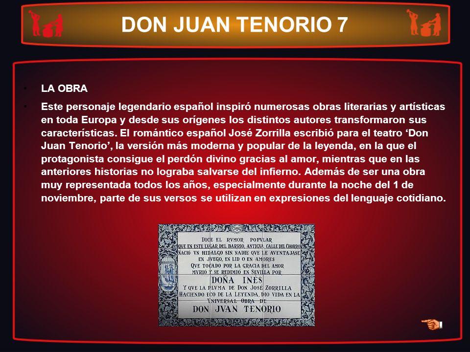 DON JUAN TENORIO 7 LA OBRA