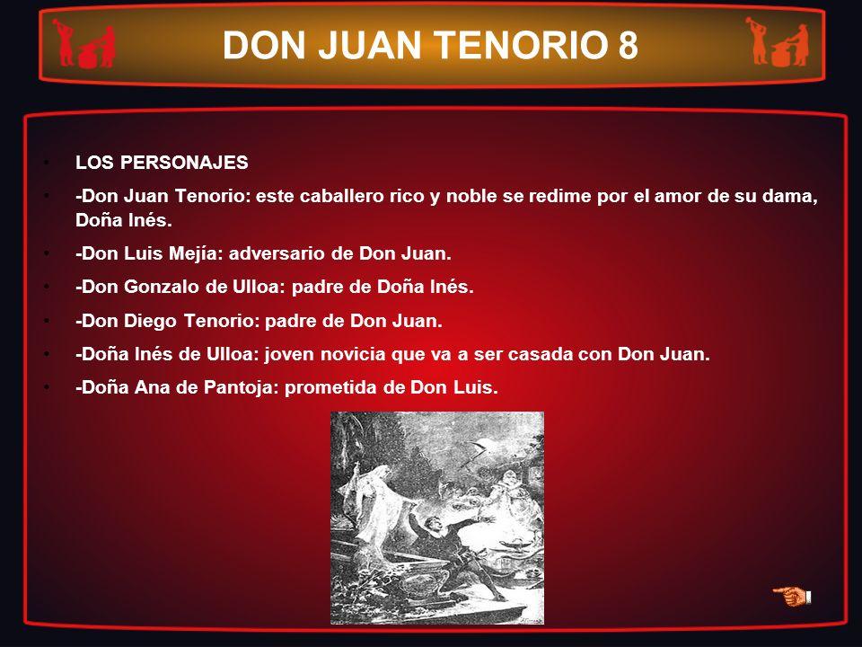 DON JUAN TENORIO 8 LOS PERSONAJES