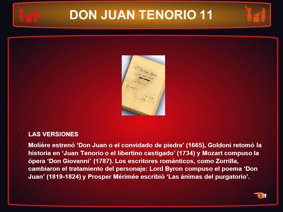 DON JUAN TENORIO 11 LAS VERSIONES
