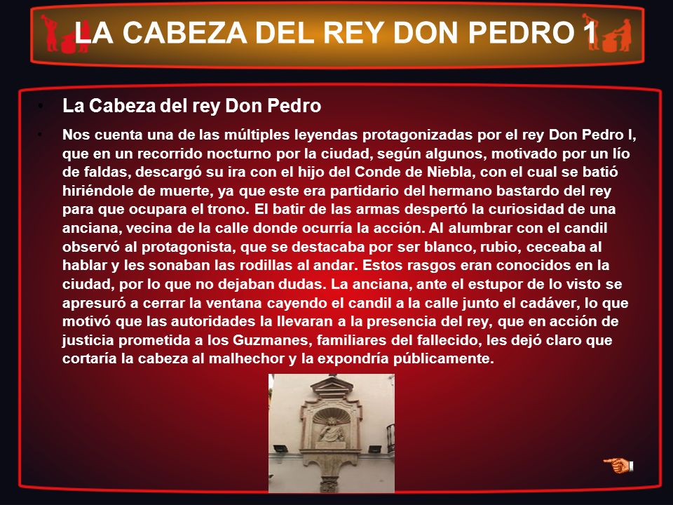 LA CABEZA DEL REY DON PEDRO 1